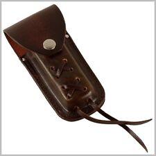 Etui marron cuir lacets ceinture pour couteaux poche Biker caso cuchillo knife