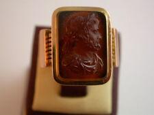 antiker französischer Ring Karneol  Rotgold 750