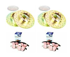 LR DISCOVERY 2 TD5 DRILLED & GROOVED BRAKE DISCS & EBC PADS FRONT & REAR-pbdk09