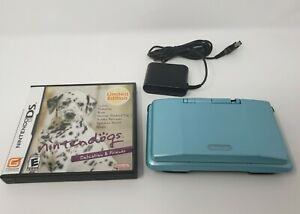 Original Nintendo DS Teal Best Friends Nintendogs TESTED WORKING w/ Broken Hinge