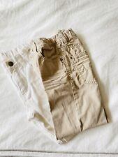 lot of 2 h&m boys 100% cotton pants jeans khaki white - size 4-5-6