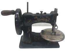 Antique Stitchwell Sewing Machine Cast Iron Singer Child Toy