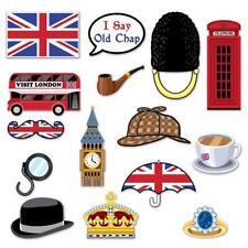 Signos británico Patriótico Foto Prop 15 piezas reinas 90TH Cumpleaños Tea Party