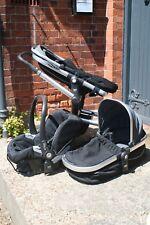 Black joolz - mama & papa, with car seat, push chair and pram