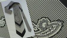 Vintage Men's Neck Tie Gentleman's 60's 70's Houndstooth Design Stripe Paisley