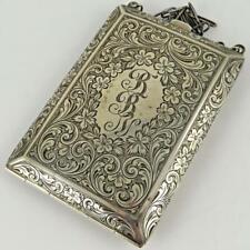 ANTIQUE JAMES E. BLAKE 1232 STERLING SILVER LADIES COMPACT CARD CASE COIN PURSE