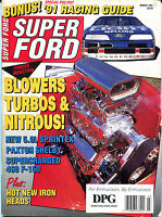 Super Ford Magazine March 1991 Blowers Turbos & Nitrous! VGEX 122815jhe