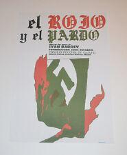 Cuban Theater Poster Art.Home or Room Decoration.El rojo y el pardo.Ivan Radoev