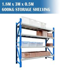 Garage Shelving Longspan Shelving Warehouse Metal Steel Rack 1.8M x 3.0M x 0.5M
