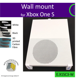 Xbox One S wall bracket. Mount. Holder. Made in the UK by us. Easy install.