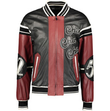 DOLCE & GABBANA Club Lounge Leather Bomber Jacket - IT 48/UK 38/US 38/EU 44/JP M