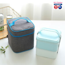Insulated Lunch Bag Cooler Lunch Box Tote School Picnic with Box