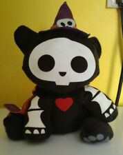 Skelanimals Kit the Black Kitty Cat Witch Stuffed Animal Plush Doll Halloween