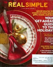 2011 Real Simple Magazine: Get-Ahead Guide to the Holidays/Thanksgiving Plan