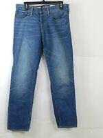 Old Navy Mens Slim Etroit Straight Leg Jeans Size 30x30 Button Fly Denim Blue