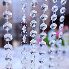 33ft/10m Crystal Clear Acrylic Garland Bead Chandelier Hanging Wedding Supplies