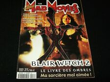 MAD MOVIES Magazine° NOVEMBER 2000<>FRANCE (FRENCH) MAG<> BLAIR WITCH 2
