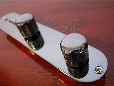 2 - Modern Vintage Guitar Flat Top Volume Knobs Knurled  Black Nickel