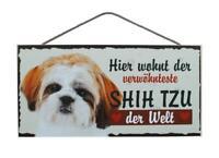 Shih Tzu Hunde Holzschild Türschild Tierschild Dog Wood Sign 25cm !!