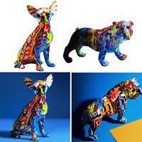 Home Decor Crafts Dog Figurine Resin Art Animal Dog Doll Sculpture Statue