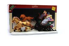 Lemax Dickensvale Village Porcelain Cozy Sleigh Ride Figurine Horse Carriage