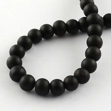 Wholesale Beads Bulk Beads Black Beads 6mm Rubberized Glass 133pc Large Lot
