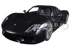 PORSCHE 918 SPYDER WEISSACH PACKAGE BLACK METALLIC 1/18 MODEL CAR AUTOART 77928