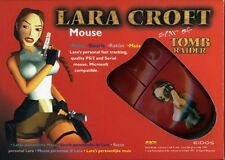 Lara Croft Tomb Raider Mouse Maus, Anschluss PS/2 + Adapter an Serial, Neu & OVP