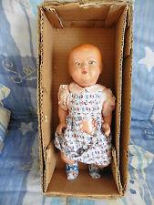 """Poupée ancienne: rare bébé """"M.A.M."""" tout d'origine, neuf en boîte 35 cm."""