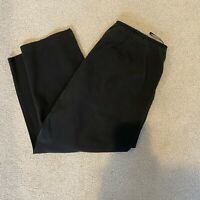 Eileen Fisher Womens Size XL Black Crop Side Zip Pants Cotton