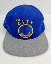 NBA Golden State Warriors The City Adidas Snapback Hat Cap Blue Gray