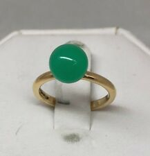 New Tiffany & Co Hardwear Ball 18K Y/R Gold Ring Chrysoprase (Green)/ Moonstone