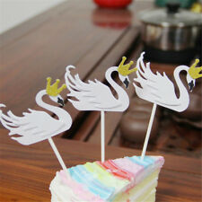 5Pcs/lot flamingo Cake Topper Birthday swan Cake Decoration Cupcake Flag HT