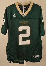 Adidas Colorado State Rams Football Jersey #2 Kids Youth Large 14-16 Green CSU