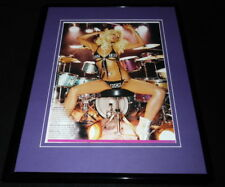 Paris Hilton 2006 Eat the Rich drumming in lingerie Framed 11x14 Photo Display