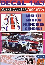 DECAL 1/43 FIAT 131 ABARTH M.MOUTON R.MONTECARLO 1979 7th (01)