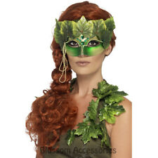 A791 Forest Nymph Masquerade Poison Ivy Fairy Eye Mask Fancy Costume Accessory