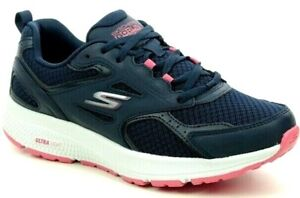 Skechers GO RUN Consistent Air Cooled Goga Mat Running Fitness Trainers Navy