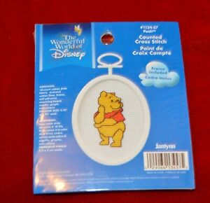 New Disney Pooh Counted Cross Stitch Kit with Frame 1134-57 ornament