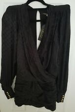 5214c41da6dee NWT Balmain x H&M Black Jacquard-Weave Silk Dress Size 2 sold ...