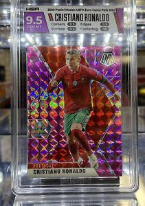 2021 Panini Mosaic UEFA EURO Crostiano Ronaldo #160 Camo pink prizm HGA 9.5 Mint