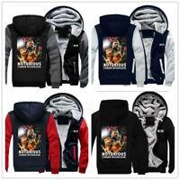 Conor McGregor NOTORIOUS Winter Thicken Hoodie Unisex Sweater Zipper Jacket Coat