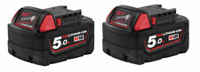 Milwaukee M18B5 Lithium-ion (Li-Ion) Battery Pack - 18V, 2 Piece