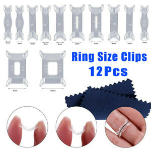 12 X Invisible Design Ring Size Reducer Resizer Adjuster Clip Guard SNUGGIES Set