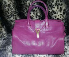 Auth Yves Saint Laurent YSL Cabas Calf Leather Hand Bag