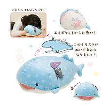 Medium San-x Whale Shark Plush Doll Jinbei-San Plush Toy Super Cute Pillow 11""