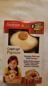 Brand New Sunbeam 1925-715 Comfort Friends Hot/Cold Packs with Plush Puppy Cover