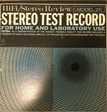 Stereo Test Record Hifi/Stereo Review Model 211 Vinyl Record