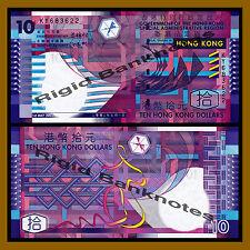 Hong Kong 10 Dollars, 2002 P-400a First Issue Unc