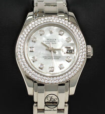 Rolex Masterpiece Pearlmaster 80339 18K White Gold Factory Diamond Bezl MOP Dial